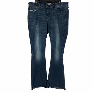 Levis Womens Blue Denizen Stretch Jeans 18 M